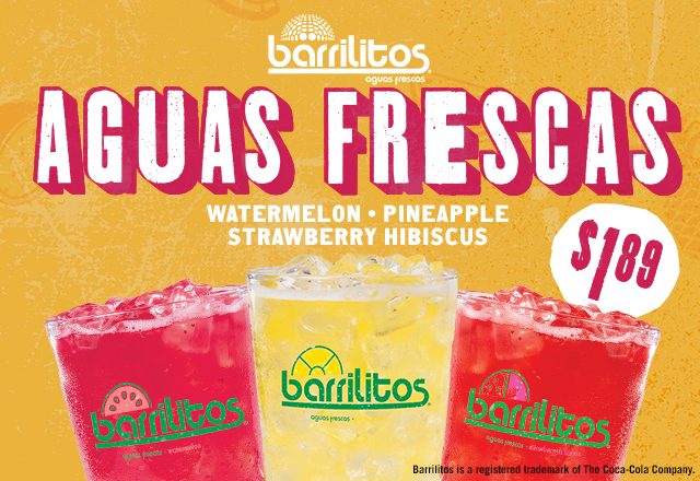 Beat the Summer Heat with our Barrilitos Aguas Frescas